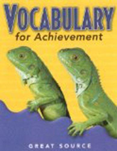 9780669471250: WORKBK-VOCABULARY FOR ACHI-GR3 (Vocabulary for Achievement)
