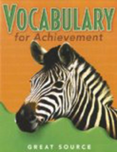 9780669471281: Great Source Vocabulary for Achievement: Student Edition Grade 5 2000