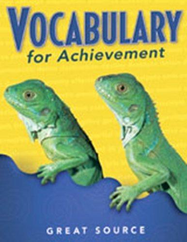 9780669471298: Vocabulary for Achievement: Teacher's Edition Grade 3 2000