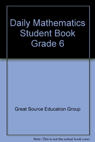 9780669484120: Daily Mathematics Student Book Grade 6