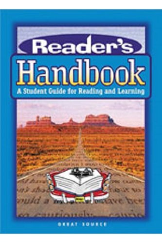 Great Source Reader's Handbooks: Lesson Plan Book 2003: SOURCE, GREAT