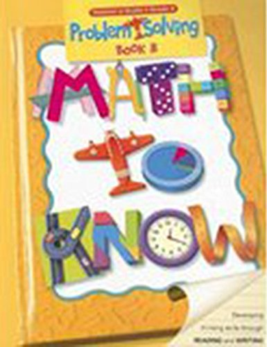 9780669500578: Math to Know Problem Solving: Teacher's Guide Grade 4 2003
