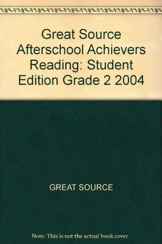 9780669504903: Great Source Afterschool Achievers Reading: Student Edition Grade 2