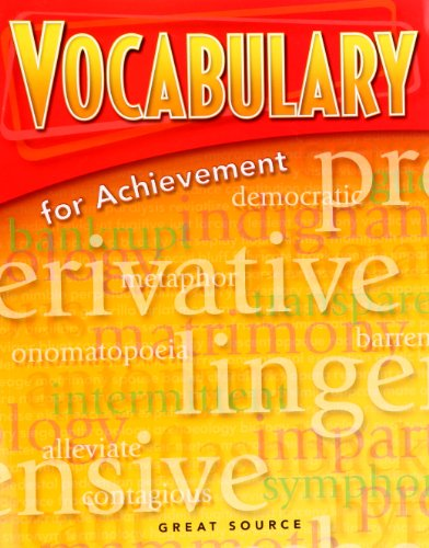 9780669517545: Great Source Vocabulary for Achievement: Student Edition Grade 6 Intro Course 2006