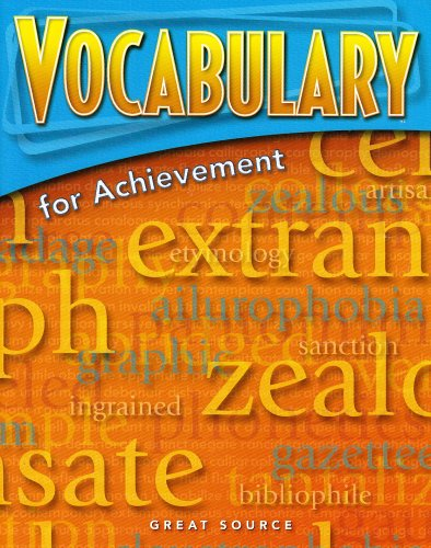 9780669517552: Great Source Vocabulary for Achievement: Student Edition Grade 7 First Course 2006