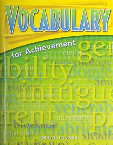 9780669517569: Great Source Vocabulary for Achievement: Student Edition Grade 8 Second Course 2006