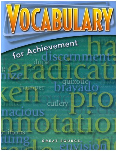 9780669517576: Great Source Vocabulary for Achievement: Student Edition Grade 9 Third Course 2006