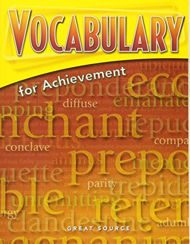 9780669517606: Great Source Vocabulary for Achievement: Student Edition Grade 12 Sixth Course 2006
