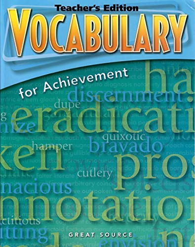9780669517644: GRT SOURCE VOCABULARY FOR ACHI (Vocabulary for Achievement)