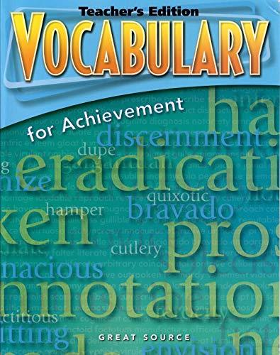 9780669517644: Great Source Vocabulary for Achievement: Teacher Edition Grade 9