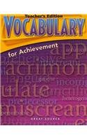 9780669517651: Great Source Vocabulary for Achievement: Teacher Edition Grade 10 Fourth Course 2006 (Homeschool CD Companion 8-A)