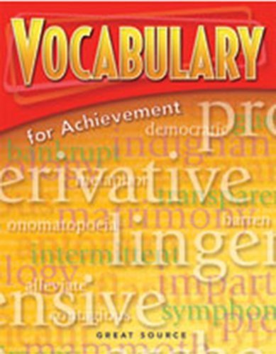 9780669520422: Vocabulary for Achievement: Student Book 5-Pack Grade 6 (Introductory Course) 2006