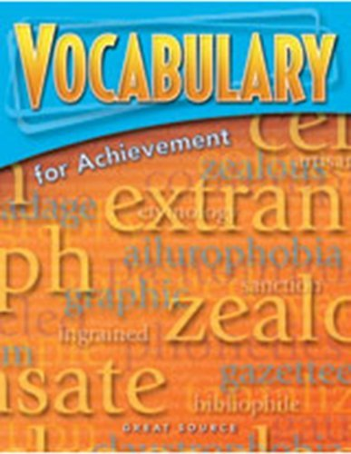9780669520446: Vocabulary for Achievement: Student Book 5-Pack Grade 7 (First Course) 2006