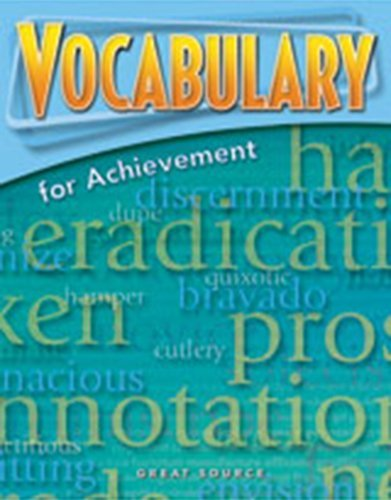 9780669520460: Great Source Vocabulary for Achievement: Student Workbook Grade 9