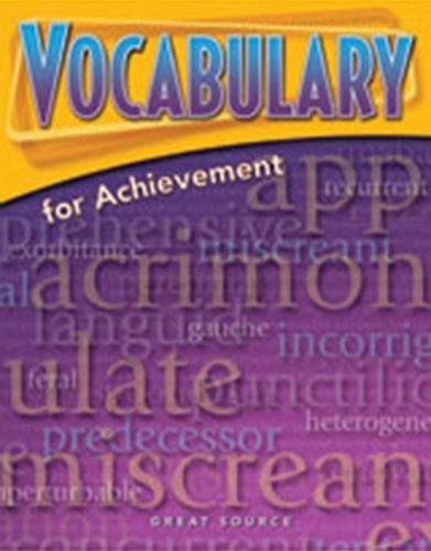 9780669520477: Great Source Vocabulary for Achievement: Student Workbook Grade 10