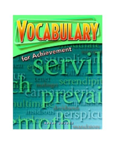 9780669520484: Vocabulary for Achievement: Student Book 5-Pack Grade 11 (Fifth Course) 2006