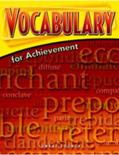 9780669520491: Great Source Vocabulary for Achievement: Student Workbook Grade 12