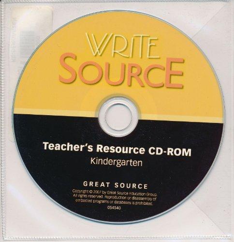9780669545401: Write Source: Resource CD Grade K 2007