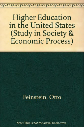9780669590715: Higher Education in the United States (Study in Society & Economic Process)