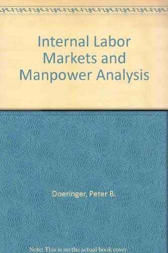 9780669602692: Internal Labor Markets and Manpower Analysis