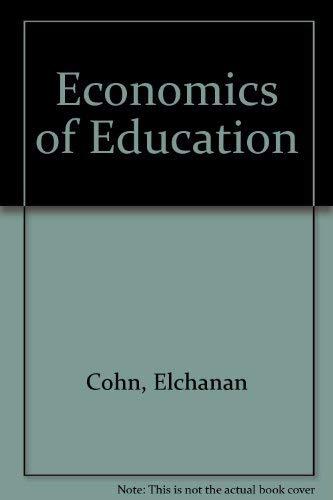 9780669735697: Economics of Education