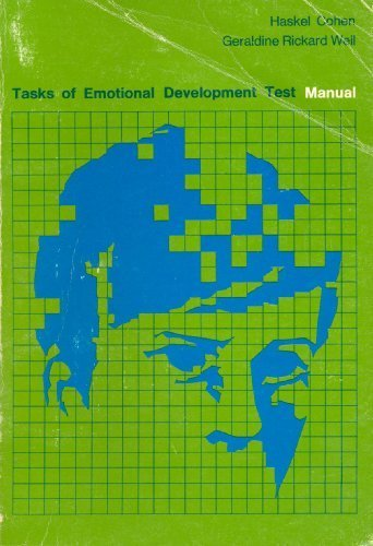 9780669759112: Tasks of Emotional Development Test Manual
