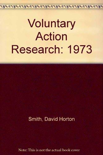Voluntary Action Research: 1973: David Horton Smith