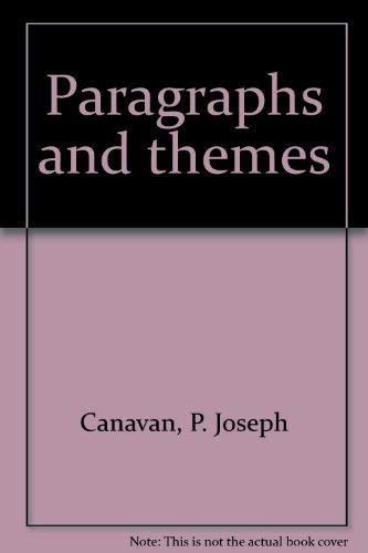 9780669910902: Paragraphs and themes