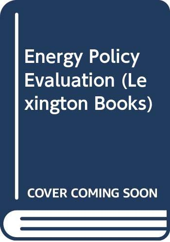 Energy Policy Evaluation: Modeling and Simulation Approaches: Operations Research Society of America