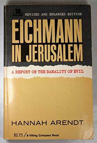 9780670001651: Eichmann in Jerusalem