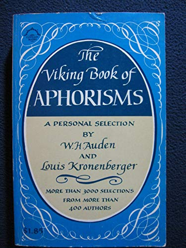 9780670001897: The Viking Book of Aphorisms