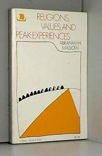 9780670003044: Religions, Values, and Peak-Experiences