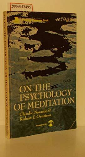 9780670003648: On the Psychology of Meditation