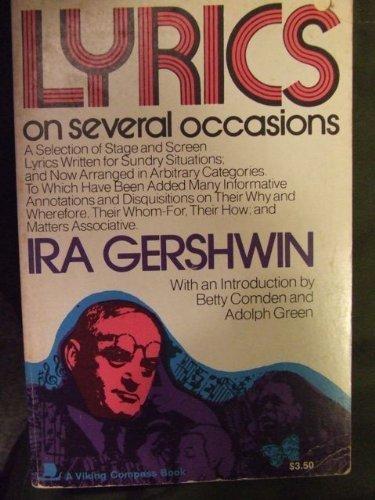 Lyrics on Several Occasions: Ira Gershwin
