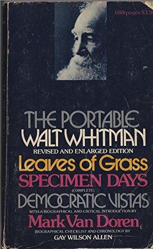 The Portable Walt Whitman: Walt Whitman; Editor-Mark