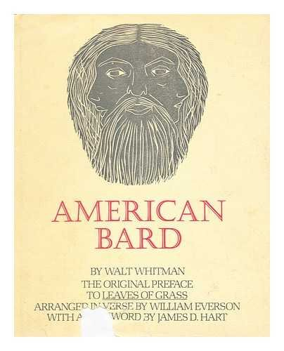 American Bard, The Original Preface to Leaves: Whitman, Walt and