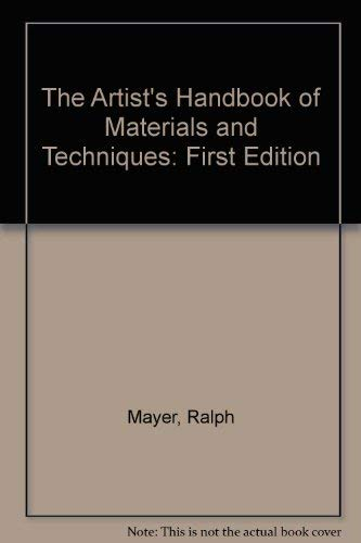 9780670136636: The Artist's Handbook of Materials and Techniques: 2First Edition