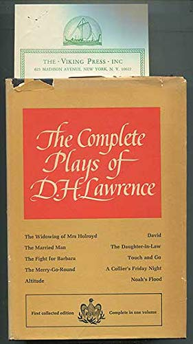 9780670234394: The Complete Plays of D. H. Lawrence.