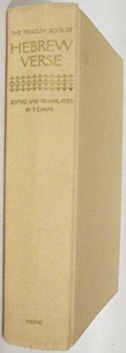 9780670365074: The Penguin Book of Hebrew Verse