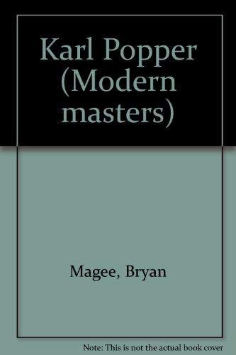 Karl Popper: 2 (Modern masters): Magee, Bryan