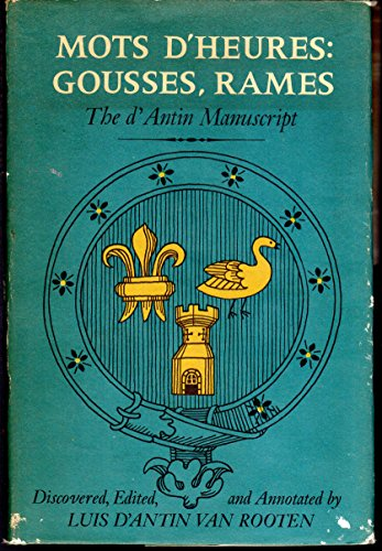 9780670490646: Mots d'Heures: Gousses, Rames: The d'Antin Manuscript