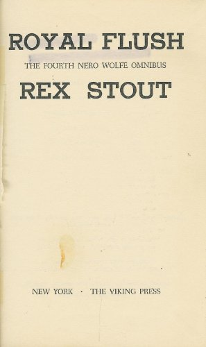 Royal Flush: Stout, Rex