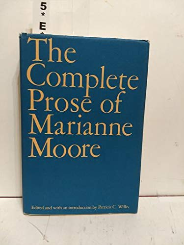9780670804511: The Complete Prose of Marianne Moore