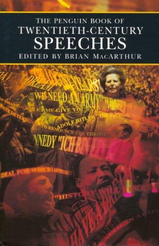 9780670831265: The Penguin Book of Twentieth-Century Speeches
