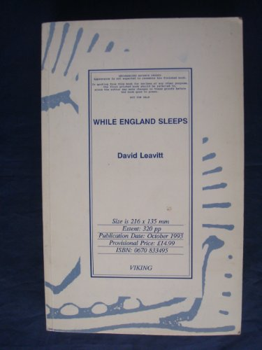 9780670833498: While England Sleeps: A Novel