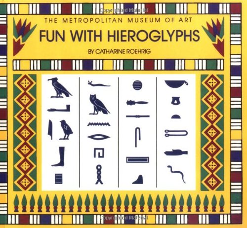 9780670835768: Fun with Hieroglyphs: 24 Rubber Stamps, Hieroglyph Guidebook, Ink Pad (Box Set) (The Metropolitan Museum of Art)