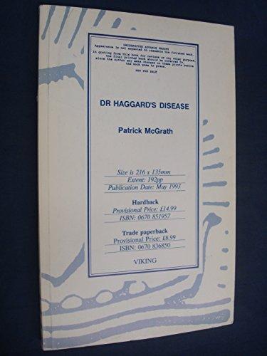 9780670836857: Dr Haggards Disease