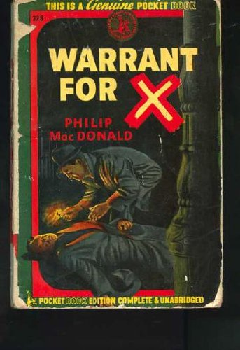 9780671003289: Warrant for X