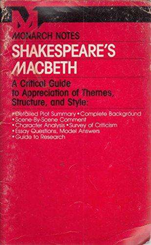 9780671005160: Shakespeare's Macbeth (Monarch notes)