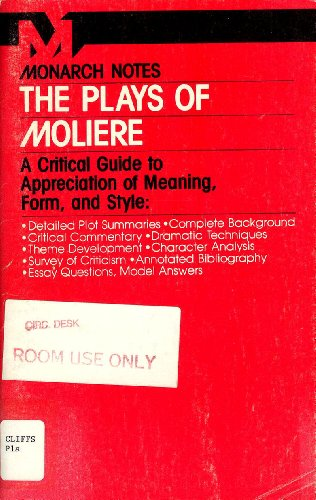 9780671005689: The Plays of Moliere (Monarch notes)